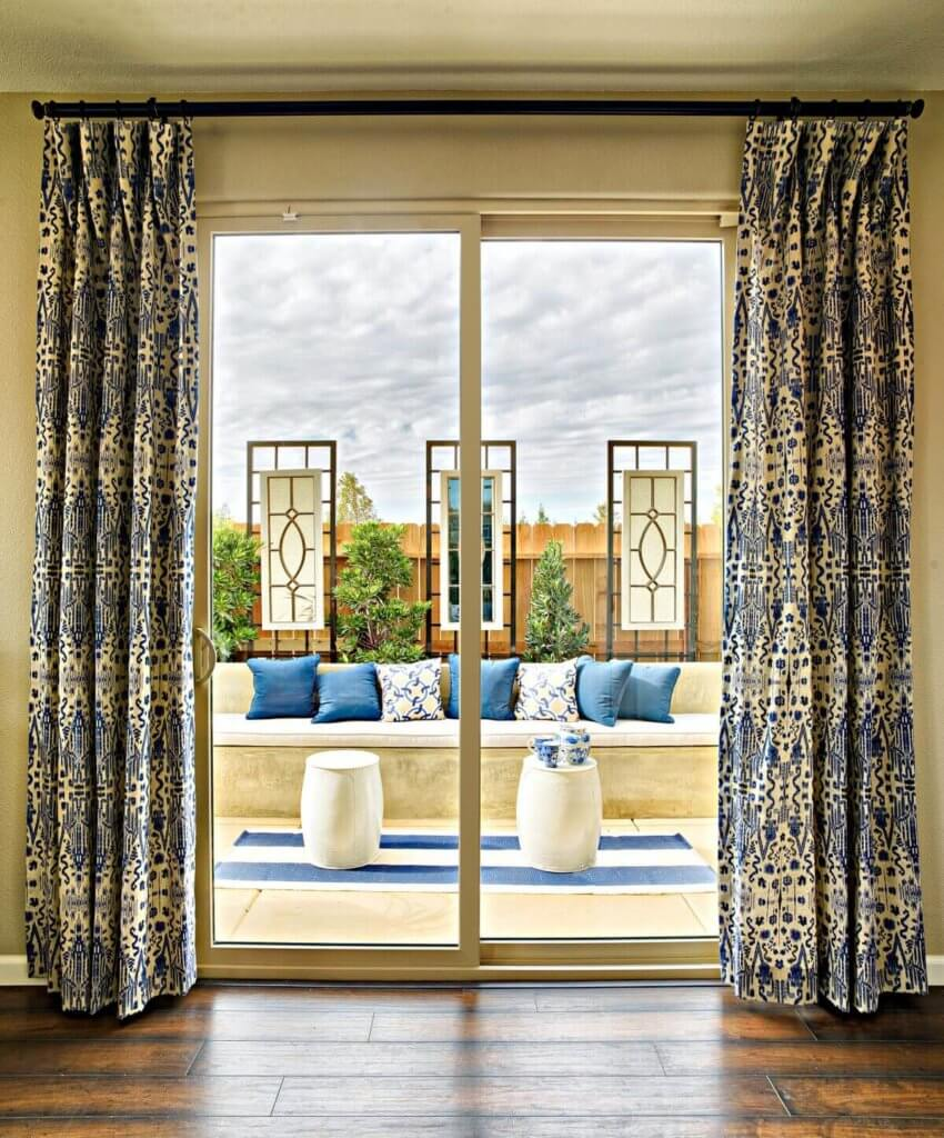 backyard view from inside glass door