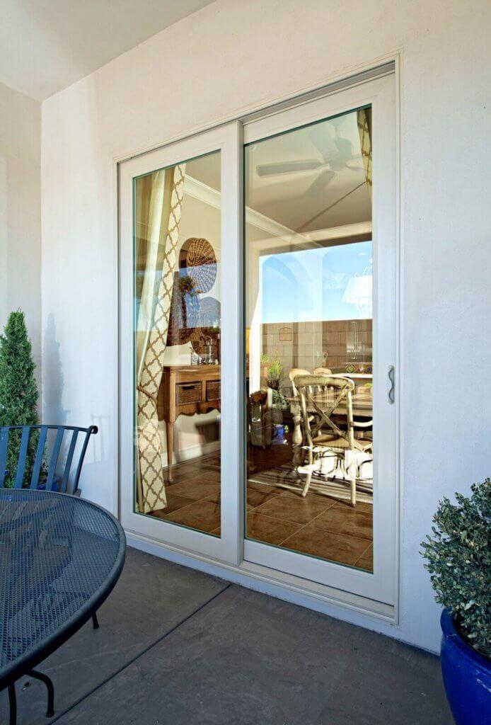 exterior view of glass door