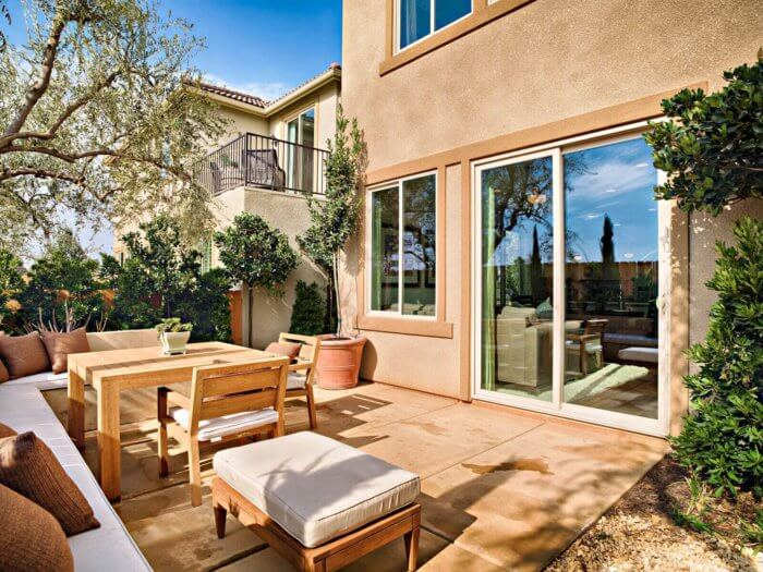 backyard glass sliding doors