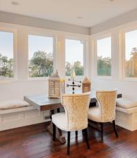 dining room full of windows