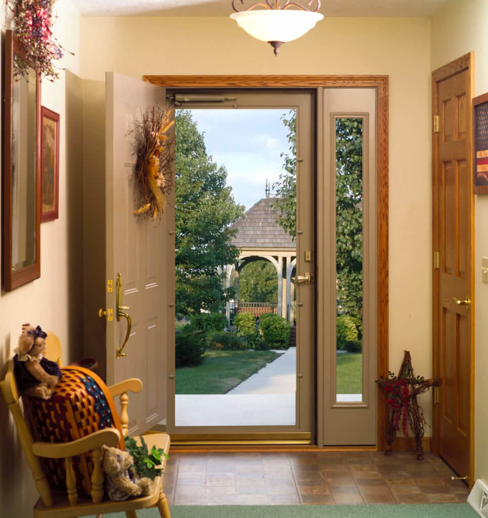 door with thing side window