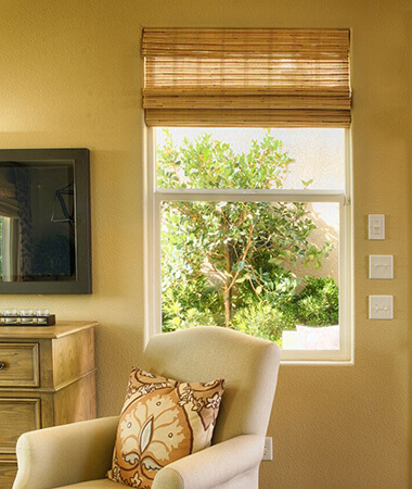 lounging area with a window