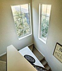 tall staircase windows