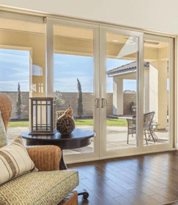 swinging glass doors