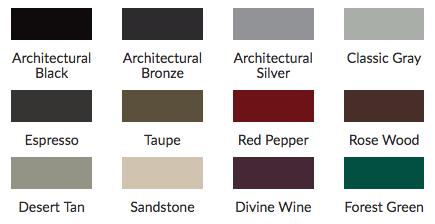 new color palette options