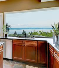 kitchen view through windows