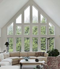 triangular window wall