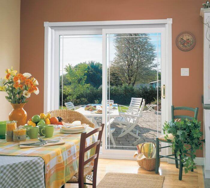 sliding glass door towards yard
